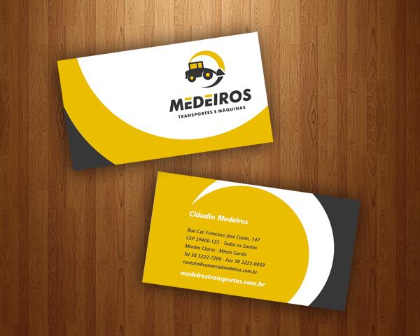 Cartão de visitas Locadora de Equipamentos e Transportes