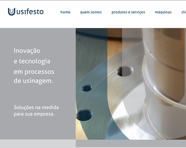 Site para empresa de usinagem