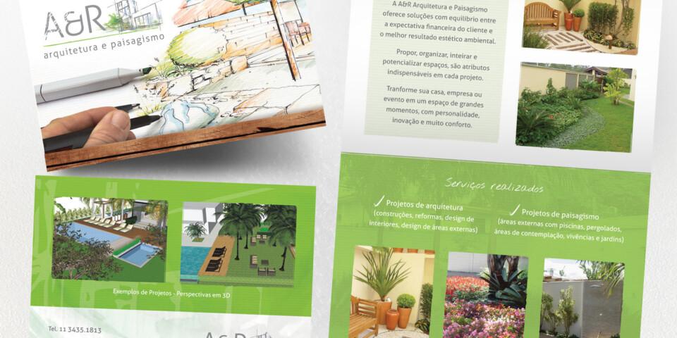 Folder Escritório Arquitetura e Paisagismo