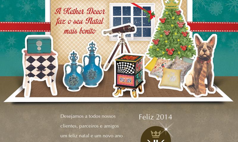 Cartão de Natal Loja de Decoração