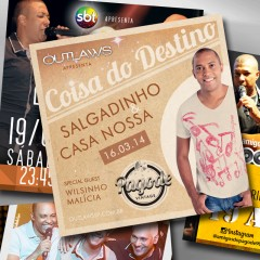 Flyers Amigos do Pagode 90