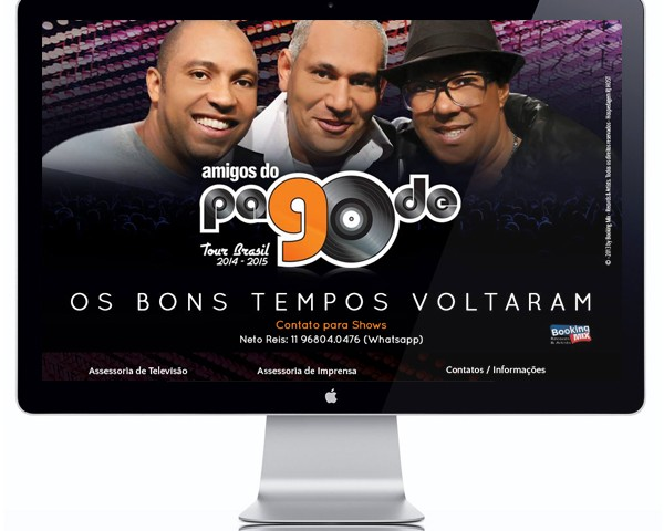Website Amigos do Pagode 90
