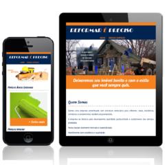 Website responsivo para empresa de reformas e decoração