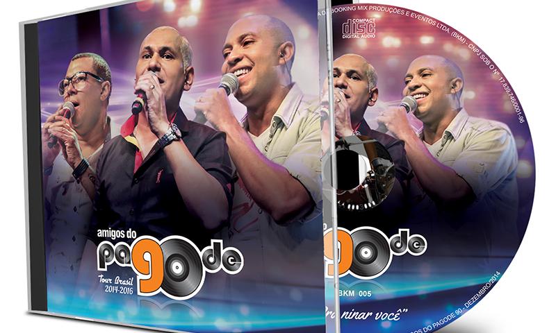 Projeto Visual Encarte CD – Amigos do Pagode 90