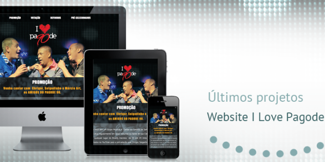 Design website responsivo I Love Pagode 90