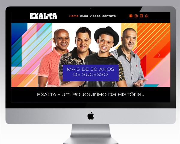 Criação de Site para o Exalta